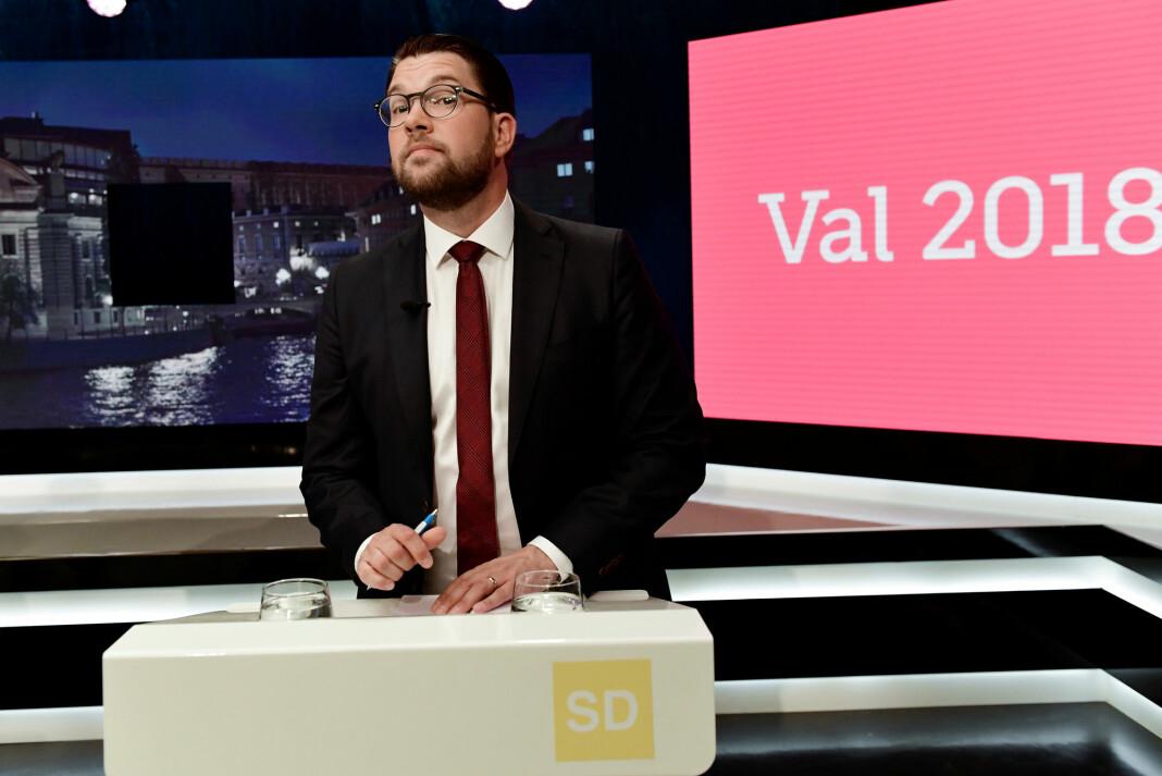 SVT-redaktør Eva Landahl tok avgjørelsen om at rikskringkastingen skulle ta avstand fra uttalelsen til Jimmie Åkesson (SD). Foto: TT / NTB scanpix
