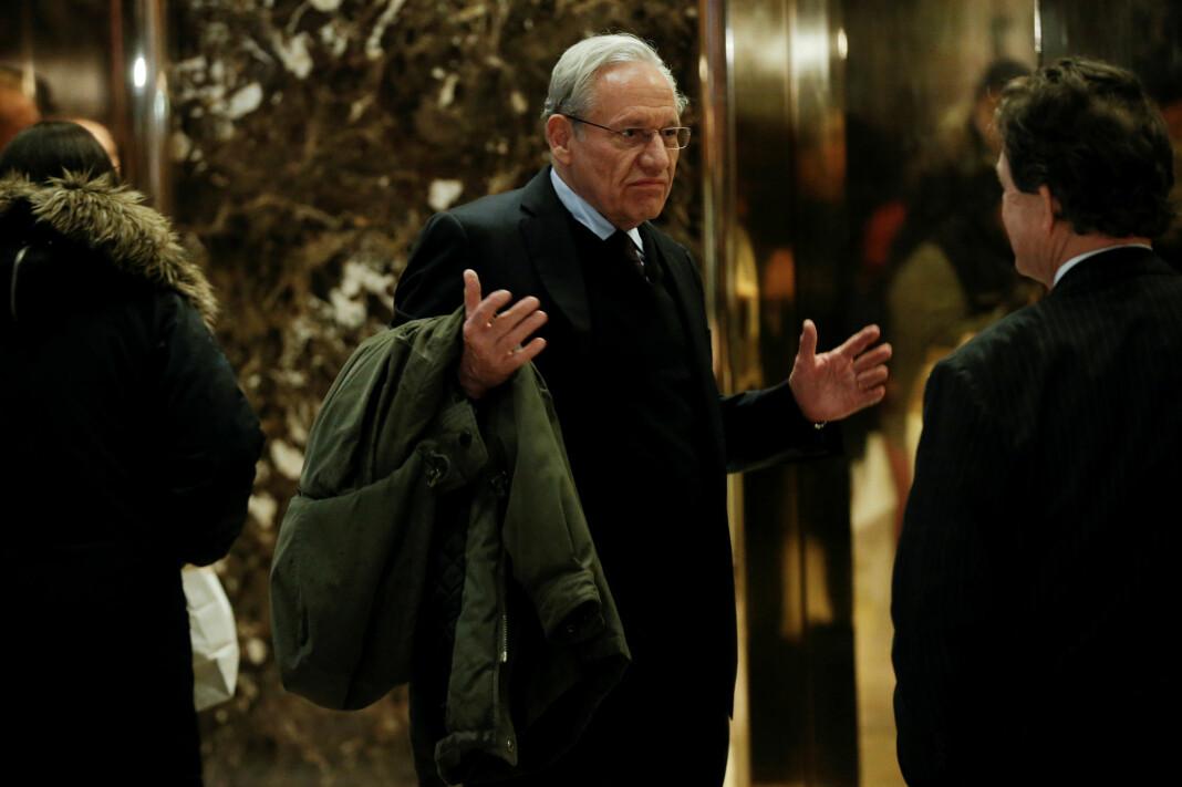 Journalist Bob Woodward ankommer Trump Tower i New York 3. januar 2017. Foto: Reuters / NTB scanpix