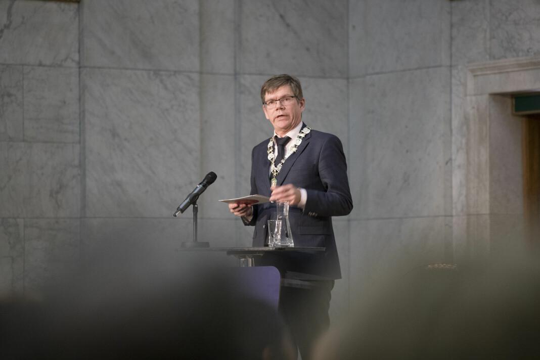 Rektor Svein Stølen ved Universitetet i Oslo vurderer å gå inn i Samarbeid om Khrono, som i dag eies av Oslomet. Foto: Håkon Mosvold Larsen / NTB scanpix