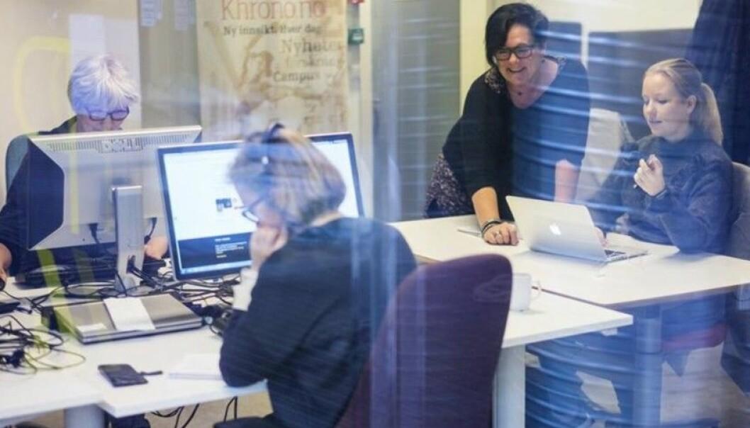 Full aktivitet i Khrono-redaksjonen. I desember blir det avklart om nettstedet får flere eiere. Foto: Khrono