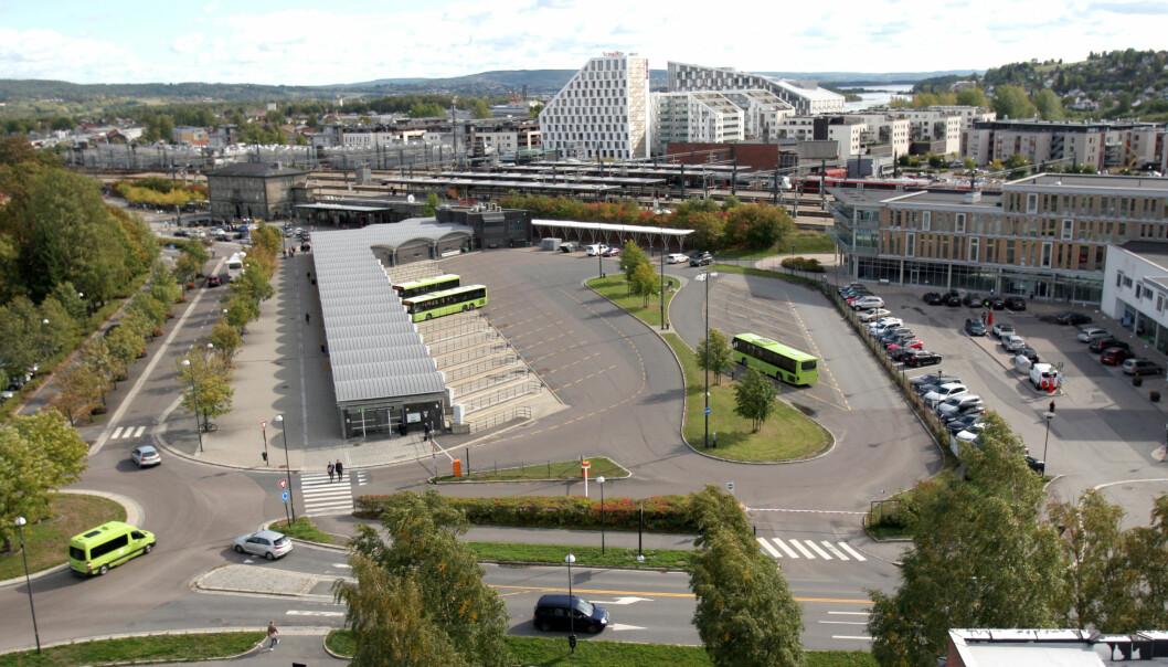 Dette er tomten sett fra rådhustårnet i Skedsmo kommune. Foto: Glenn Slydal Johansen