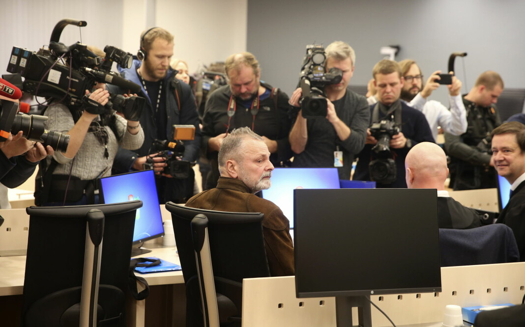 Fra forrige runde i rettssalen for Eirik Jensen og hans forsvarere. Foto: Vidar Ruud / NTB scanpix