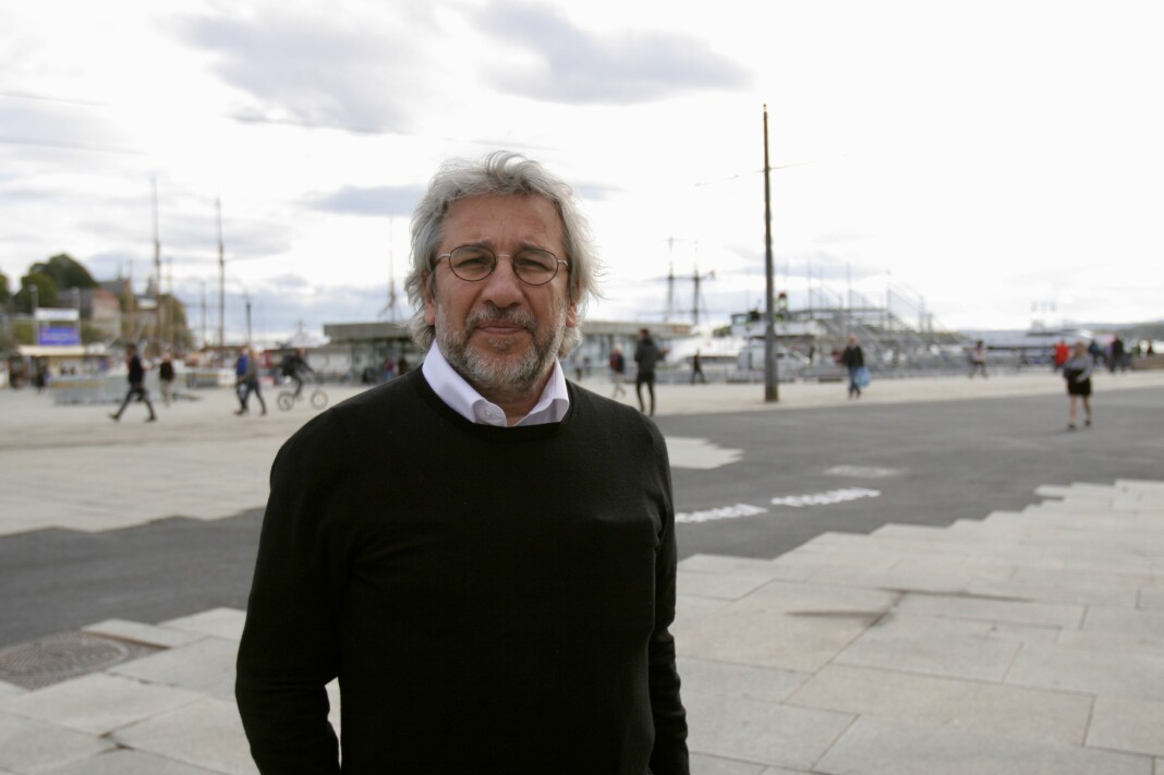Den tyrkiske journalisten og redaktøren Can Dündar besøkte Oslo og Nobels fredssenter i forrige uke. Foto: Guro Flaarønning