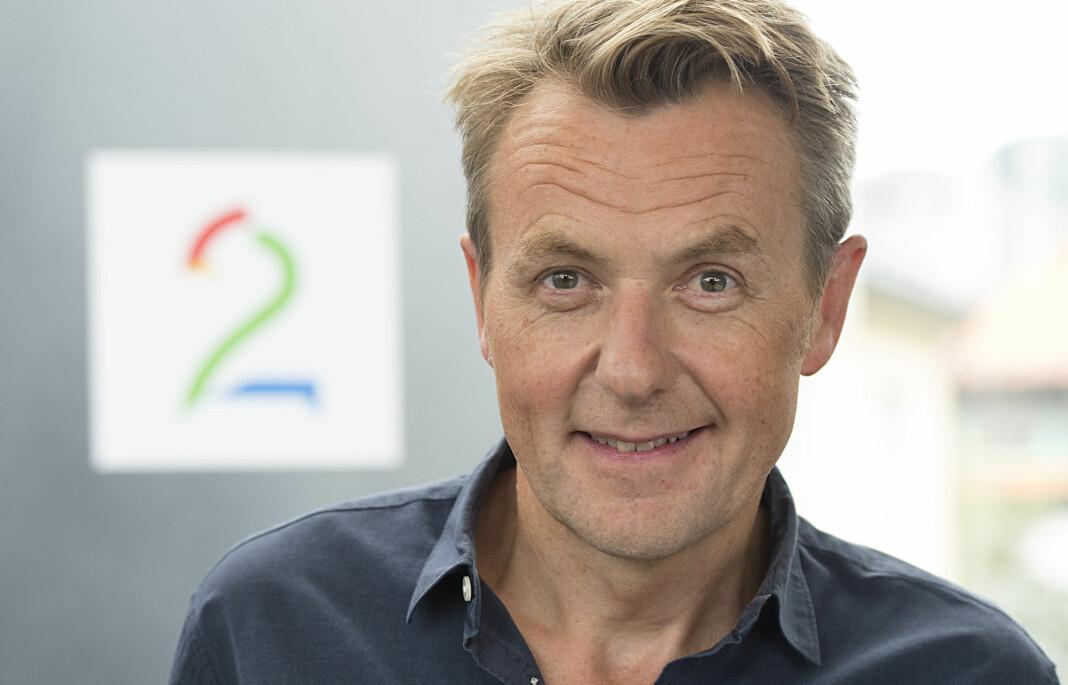 Fredrik Skavlan på TV2s høstlansering i august. Foto: Marit Hommedal / NTB scanpix