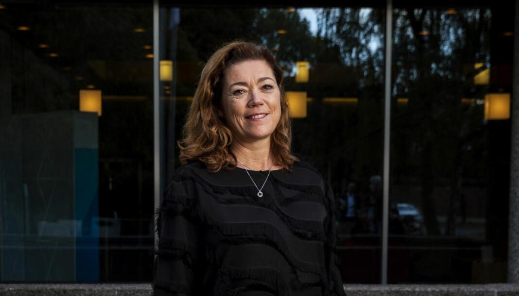 Kristin Skogen Lund la i dag fram sine første tall som konsernsjef i Schibsted Media Group. Foto: Tore Meek/NTB Scanpix