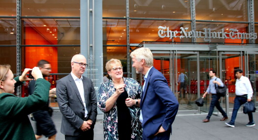 Kulturministeren etter å ha besøkt New York Times: – Må beholde mediene som fellesarena
