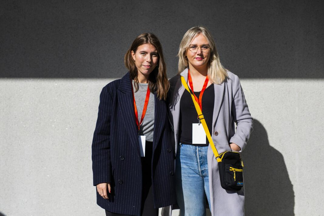 Nikoline Haugen i Radio 1 og Marte Vedde i Radio Rock, på Radiodager 2018. Alle foto: Kristine Lindebø