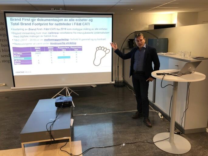 Forskningsleder Knut-Arne Futsæter forteller at det ikke finnes en internasjonal standard for å måle lesing på digitale plattformer.
