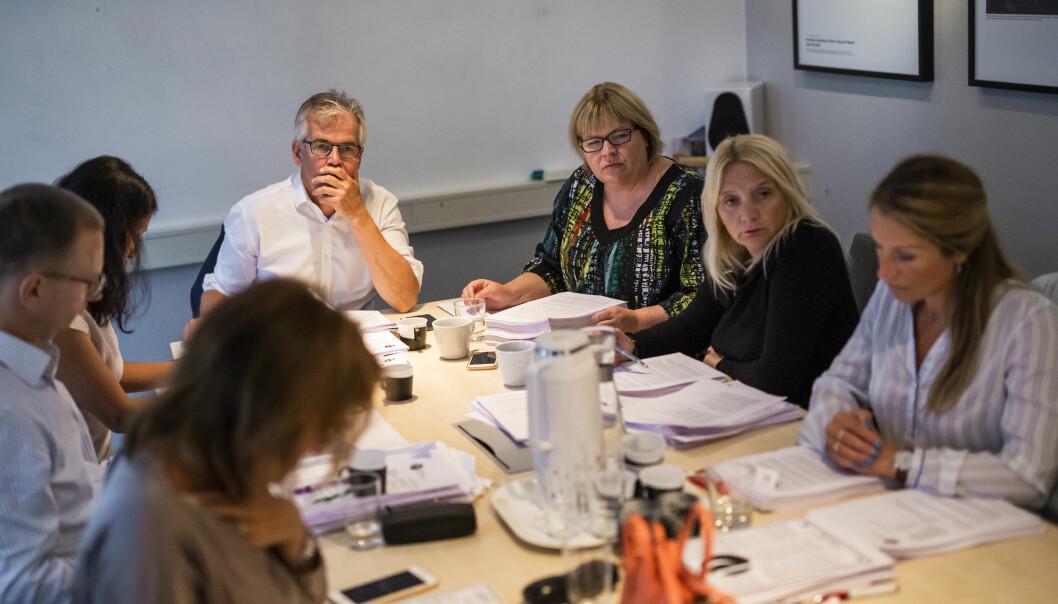 Møte i Pressens faglige utvalg tidligere i høst. Fire redaksjoner ble felt på forrige møte. Arkivfoto: Kristine Lindebø