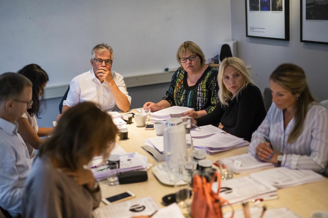 Møte i Pressens faglige utvalg, PFU. Arkivfoto: Kristine Lindebø