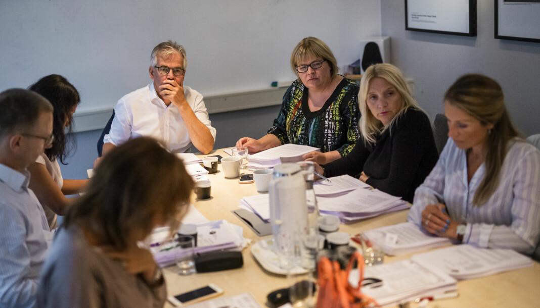 Møte i Pressens Faglige Utvalg. Foto: Kristine Lindebø