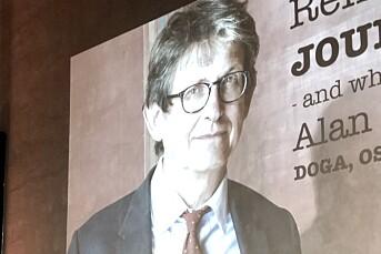 Se Alan Rusbridger snakke om journalistikkens fremtid i Oslo