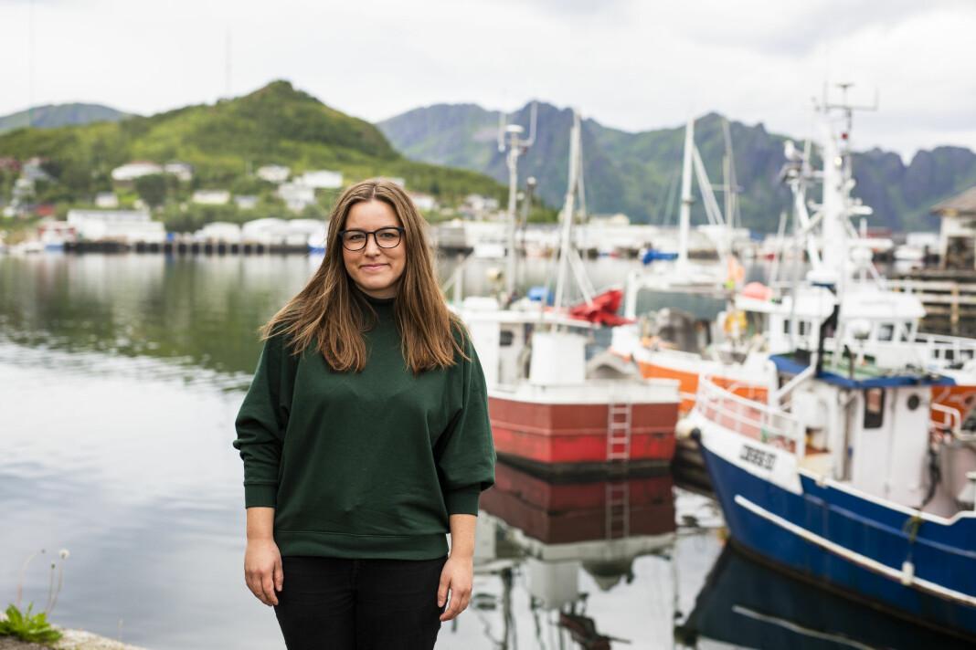 Silje Helene Nilsen dekker hele Vesterålen og Lofoten for Fiskeribladet. Foto: Kristine Lindebø