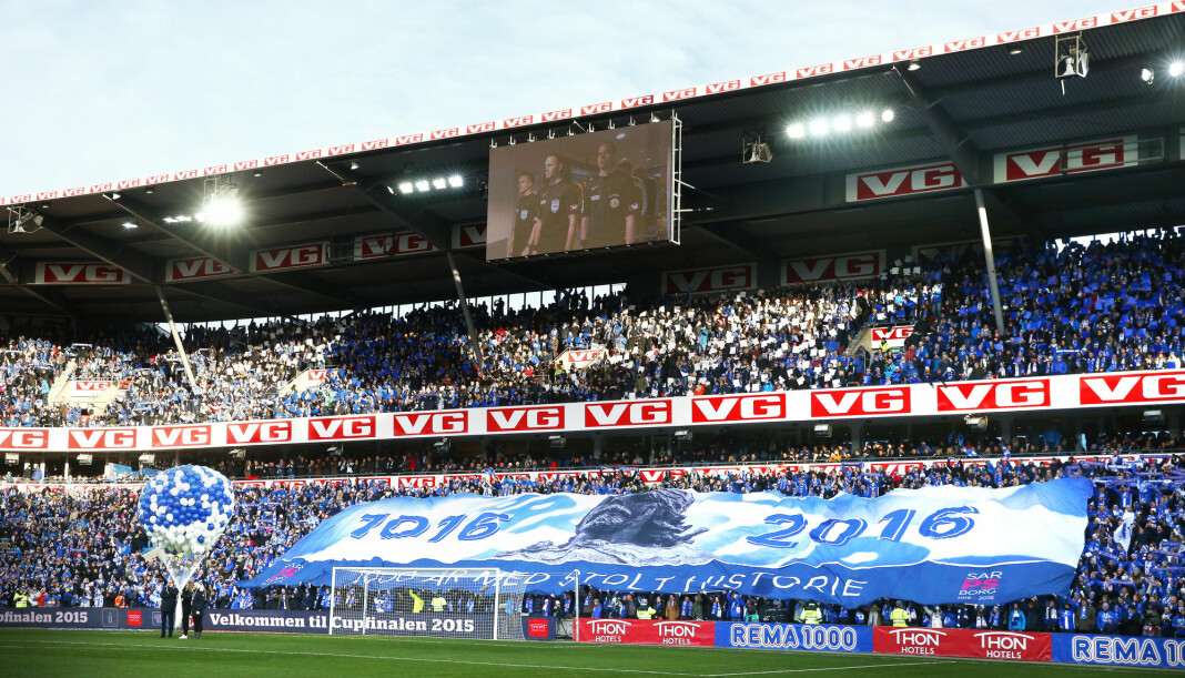 Den nye avtalen mellom VG og Norges Fotballforbund gjør at VG-tribunen på Ullevaal stadion videreføres. Foto: Heiko Junge / NTB scanpix