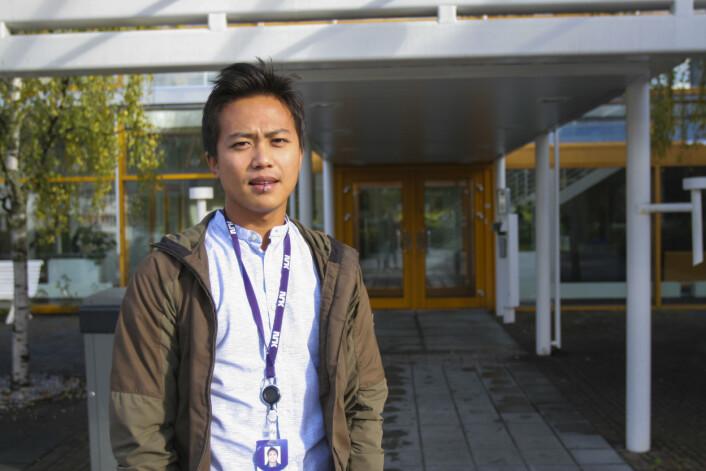 Nareas Sae-Khow, vaktsjef i NRK Trøndelag. Foto: Guro Flaarønning