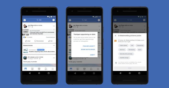 Nå kan nordmenn få varsel om de sprer falske nyheter på Facebook