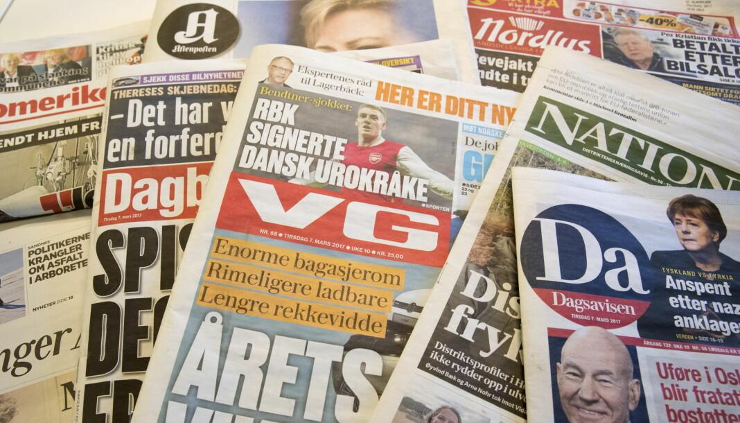 Pressestøtten er uendret i statsbudsjettet fra 2018 til 2019. Foto: Terje Bendiksby / NTB scanpix