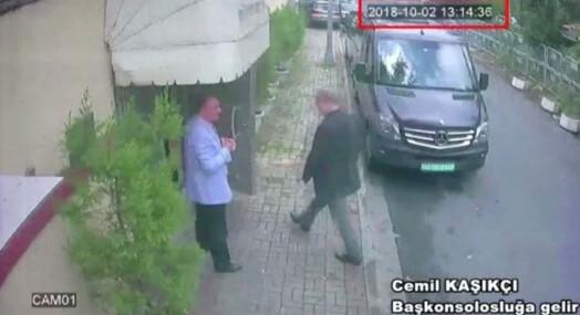 Siste bildet: Dette skal være den savnede journalisten på vei inn på konsulatet i Istanbul