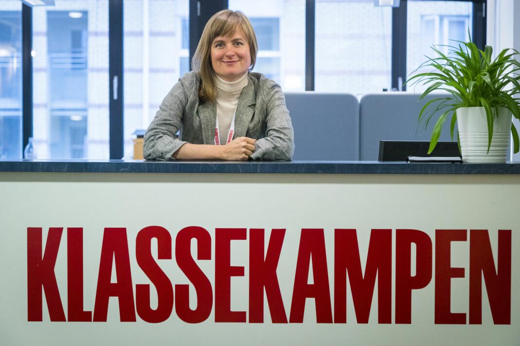 Klassekampens Mari Skurdal frykter mindre pressestøtte hvis Dagbladet blir en del av ordningen. Foto: Heiko Junge / NTB scanpix