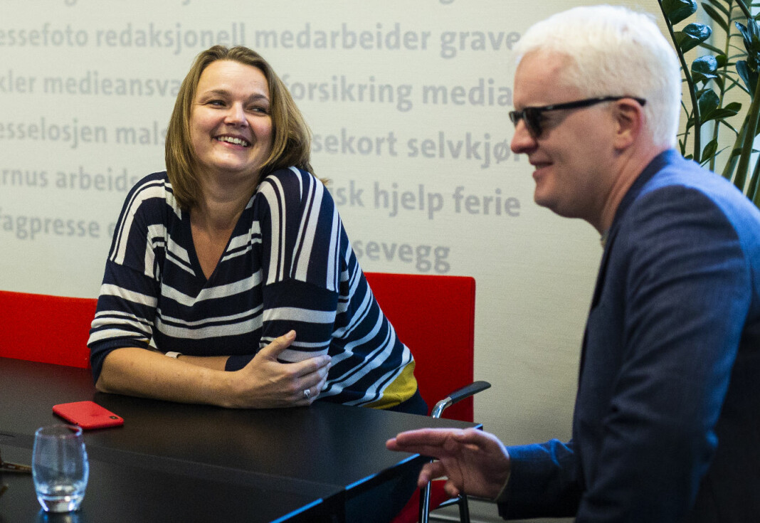 Leder Hege Iren Frantzen og nestleder Dag Idar Tryggestad i Norsk Journalistlag skal denne uka vedta 2019-budsjettet sammen med landsstyret. Arkivfoto: Kristine Lindebø