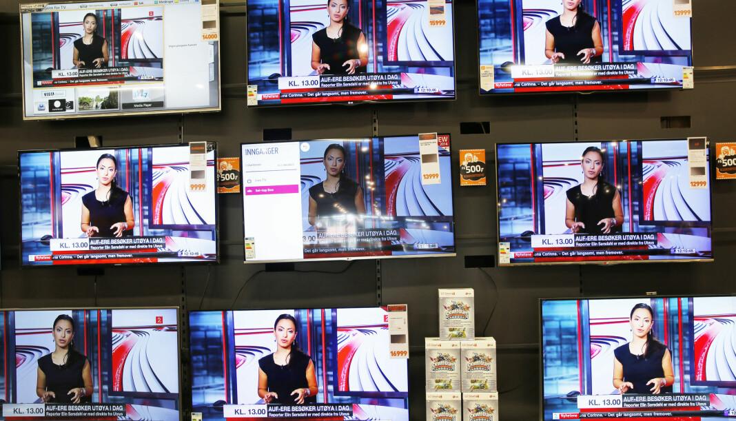 Fallet i annonseinntektene for TV-markedet fortsetter. Fra september i fjor og til september i år er nedgangen på 174 millioner kroner. Fortsetter utviklingen slik, kan internett gå forbi TV som reklamemedium i løpet av året. Foto: Terje Bendiksby / NTB scanpix