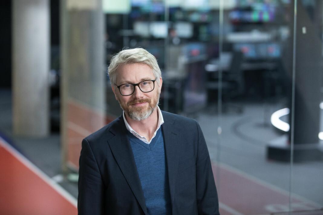 TV 2-sjef Olav T. Sandes presenterte i dag 2018-tallene. Foto: TV 2