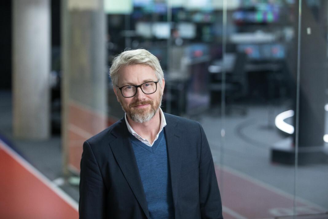 TV 2-sjef Olav T. Sandnes bekrefter «Operasjon Nordsjø», en hemmelig utredning for å se på utflagging til London. Foto: TV 2