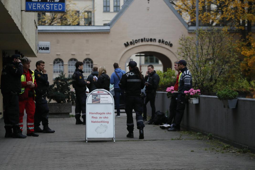Flere medier oppga adressen til drapet som skjedde på Majorstua mandag kveld. Foto: Cornelius Poppe / NTB scanpix