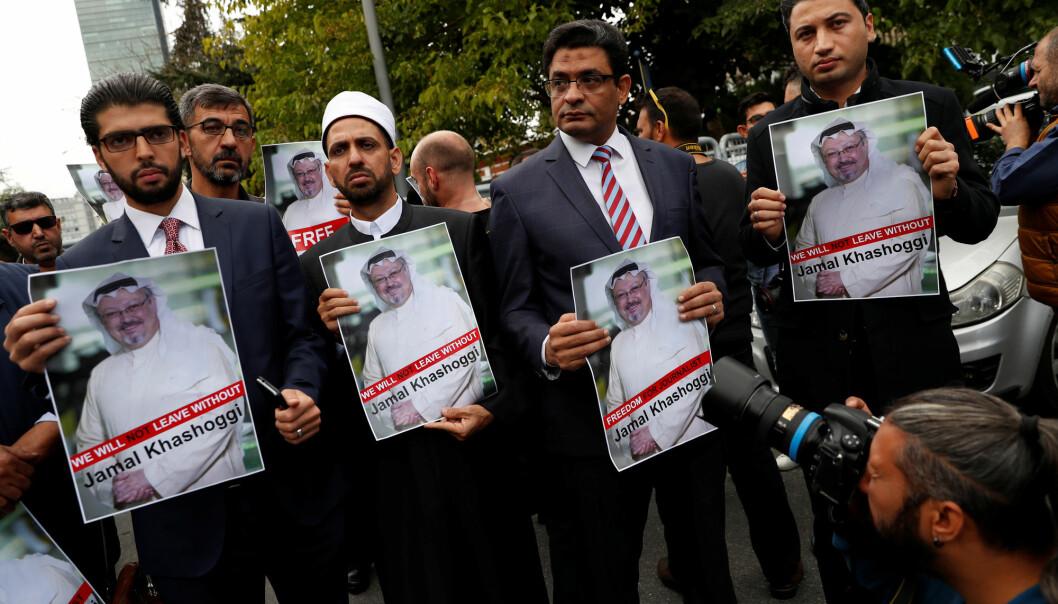 Den saudiarabiske regimekritikeren og journalisten Jamal Khashoggi forsvant under et besøk på hjemlandets konsulat i Istanbul, der det hevdes at han ble drept. Foto: Reuters / NTB scanpix