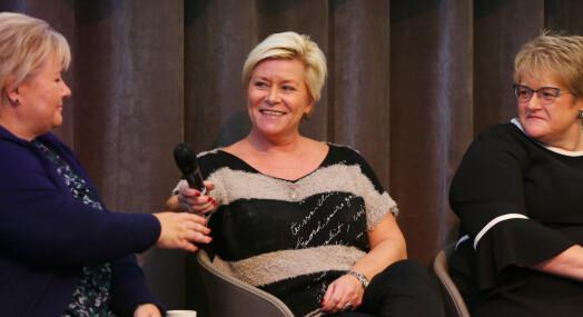 Spørsmål fra journalister om barnløshet sårer Siv Jensen