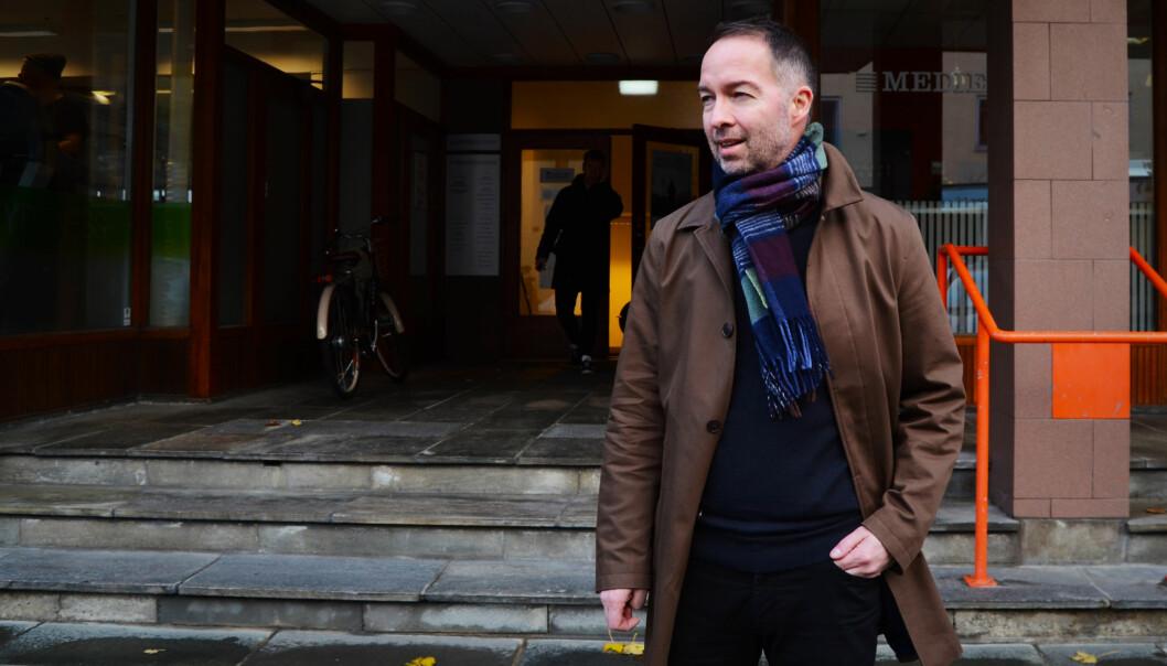 Geir Are Jensen, styreleder og konstituert redaktør for Narvik Nu, er på jakt etter noen som kan ta over nettavisen. Arkivfoto: Guro Flaarønning.