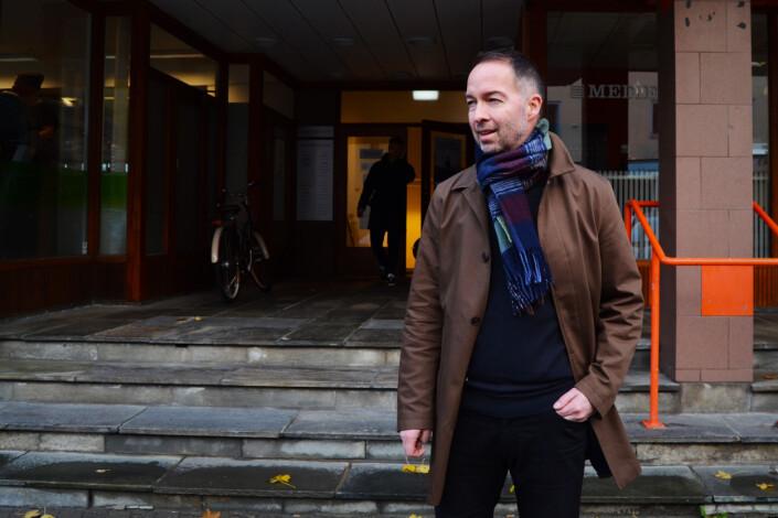 Geir Are Jensen er gründeren bak Bodø Nu, og er i dag involvert i alle de fire avisene i Nu Publishing. Foto: Guro Flaarønning.