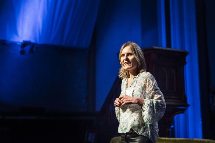 Helje Solberg holdt foredrag i Kulturkirken Jakob. Foto: Kristine Lindebø