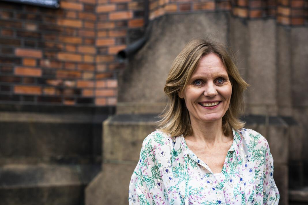 Helje Solberg, nyhetsdirektør i NRK, snakket om ledelse i en medieberansje i endring på Medienettverkskonferansen. Foto: Kristine Lindebø