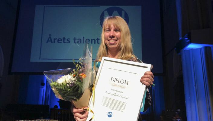Ansvarlig redaktør i Finnmarken, Anniken Renslo Sandvik, ble i fjor kåret til årets talent under Medienettverkets høstmøte. Foto: Mette Bugge / NTB scanpix