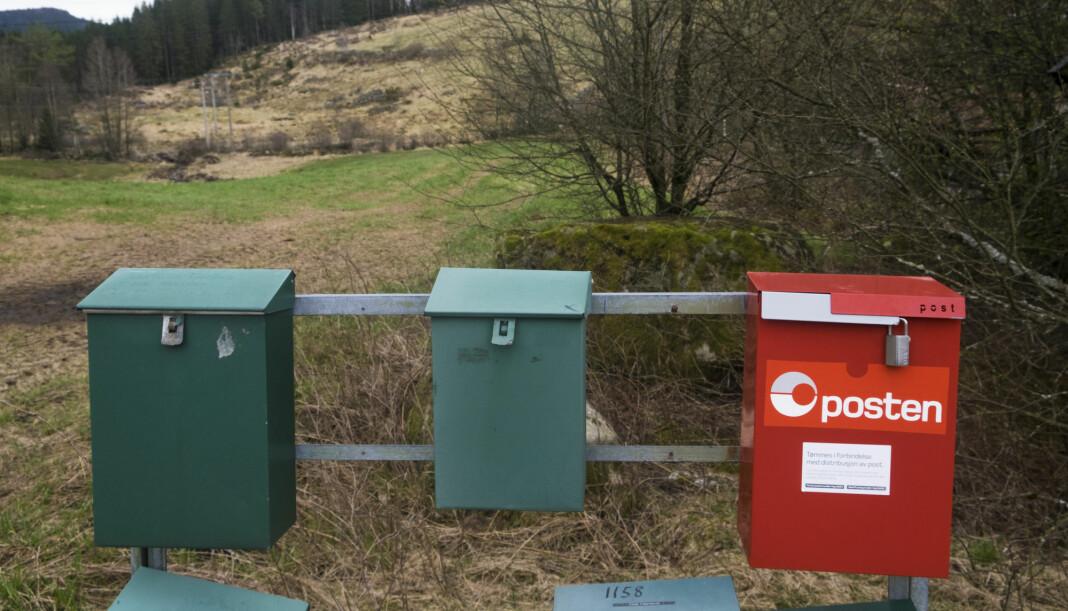 Norske postkasser er ofte tomme for brev. Foto: Vidar Ruud / NTB scanpix.