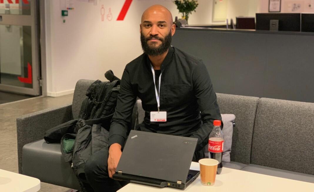 Henrik Chulu ga råd om sikkerhet under Dataskup i oktober. Foto: Glenn Slydal Johansen