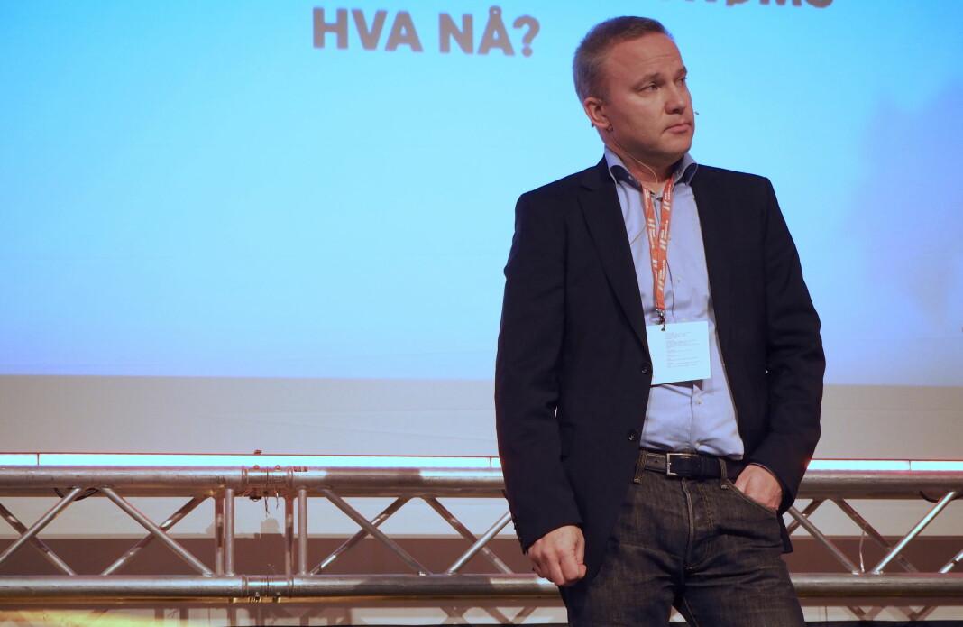 Det er helt greit å stå utenfor, mener Helge Lurås. I dag deltok han på Hauststormen i Bergen. Foto: Roger Aarli-Grøndalen