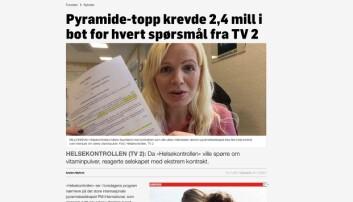 TV 2 frikjent i PFU for å ha beskrevet kosttilskuddsselskap som pyramide