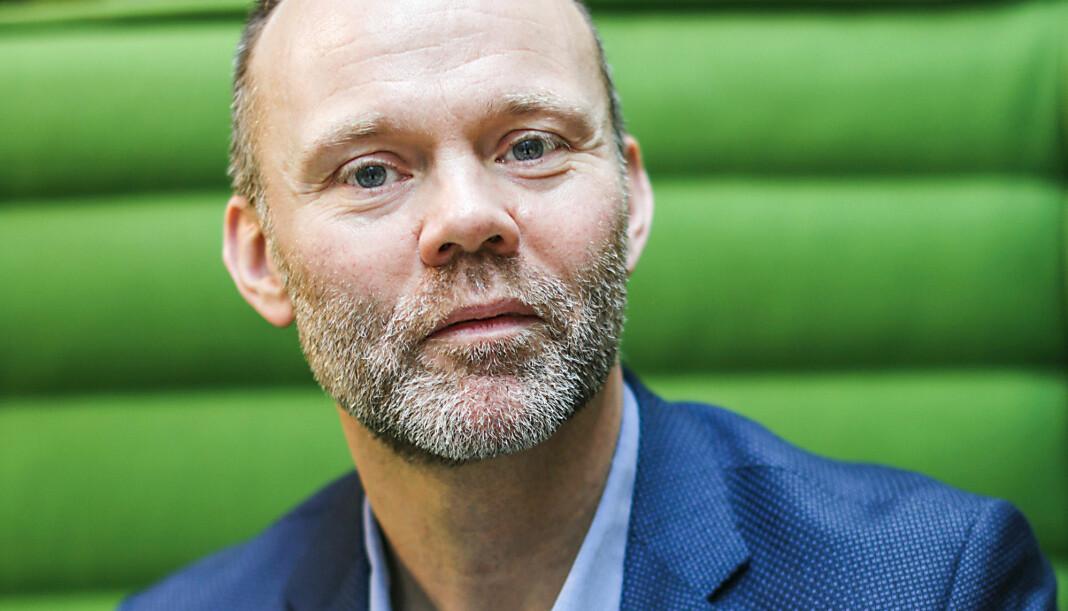 Trond Juliussen forteller at de er 99 prosent i mål med sluttpakker i Bonnier Norge. Foto: Bonnier