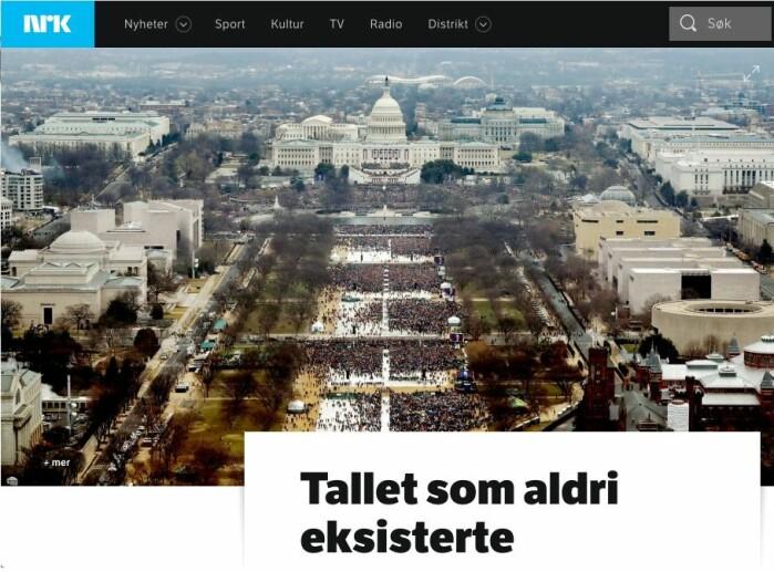 Wie Furunes fikk hederlig omtale for denne saken på NRK. Foto: Skjermdump, NRK.no