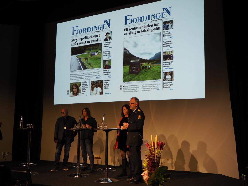 På Norsk Redaktørforenings høstmøte ble det vist fram en rekke eksempler på at politiets informasjonsstrategi ikke alltid treffer. Foto: Roger Aarli-Grøndalen
