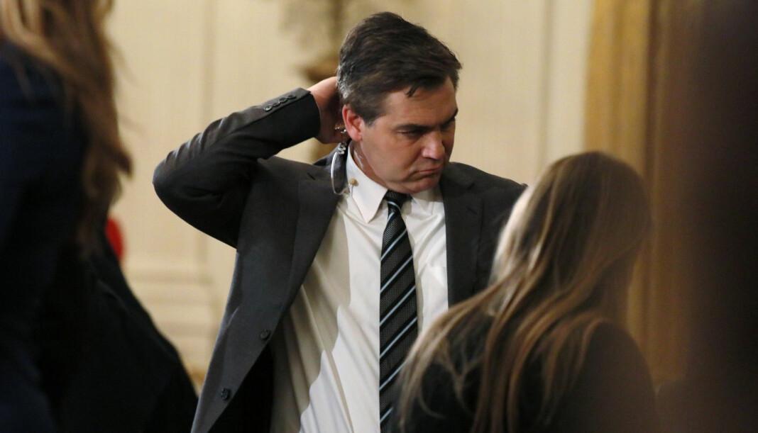 Det hvite hus har inntil videre inndratt akkrediteringen til CNNs Jim Acosta. Foto: Reuters / NTB scanpix