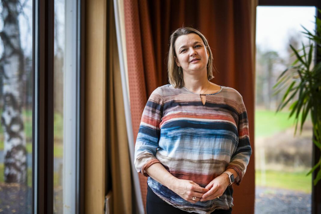 NJ-leder Hege Iren Frantzen får positive tilbakemeldinger på arbeidet til NJ. Arkivfoto: Kristine Lindebø