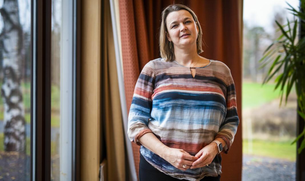 NJ-leder Hege Iren Frantzen mener Morgenbladet ikke trenger «belærende og irettesettende kommentarer om at journalistene må roe seg ned.» Arkivfoto: Kristine Lindebø