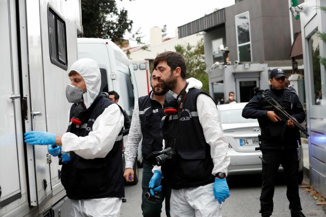 Jamal Khashoggi ble drept inne på det saudiarabiske konsulatet i Istanbul 2. oktober. Men liket er ikke funnet. Foto: Reuters / NTB scanpix