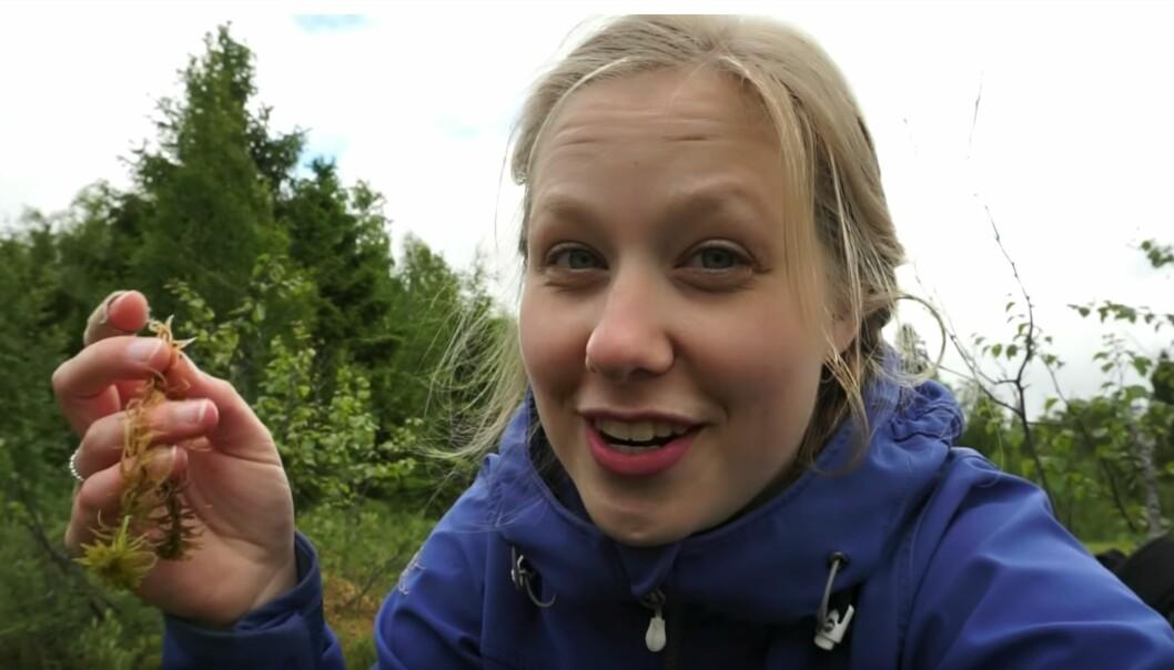 Nellie Henriette Nilsen fra Tromsø fikk drømmejobben og mønstrer på BBC Earth. Foto: Skjermdump fra YouTube