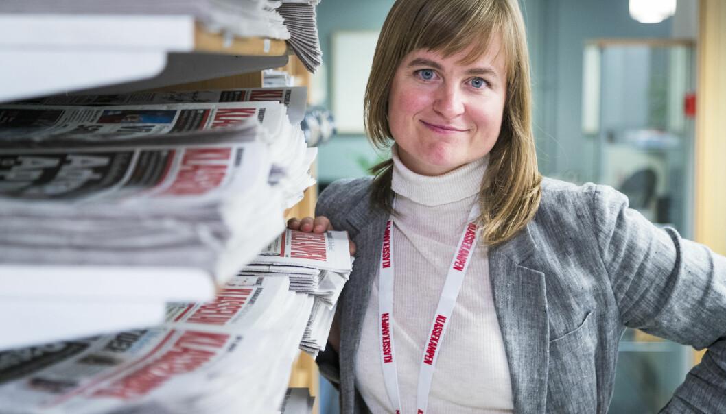 Mari Skurdal, ansvarlig redaktør i Klassekampen, leder en avis som fortsatt vokser. Foto: NTB scanpix
