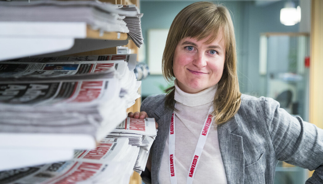 – Journalistikken har først verdi når den kommer fram til leserne. Da er distribusjon til alle abonnenter en forutsetning, sier Mari Skurdal, ansvarlig redaktør i Klassekampen. Foto: Heiko Junge / NTB scanpix