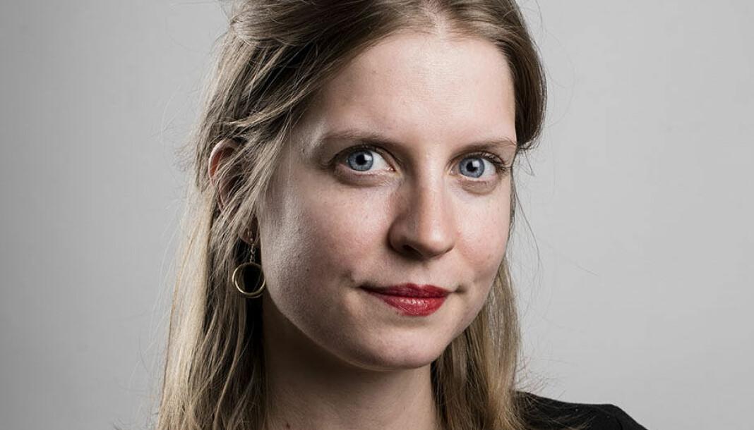 Astrid Hygen Meyer går fra kultur til feature i Klassekampen. Foto Siv Dolmen/Klassekampen